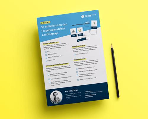 Checkliste Fragebogen Optimierung, leadgenerierung, leadgeneration, funnel, kundengewinnung, software, conversion rate, leads, marketing, fragebogen, kpi