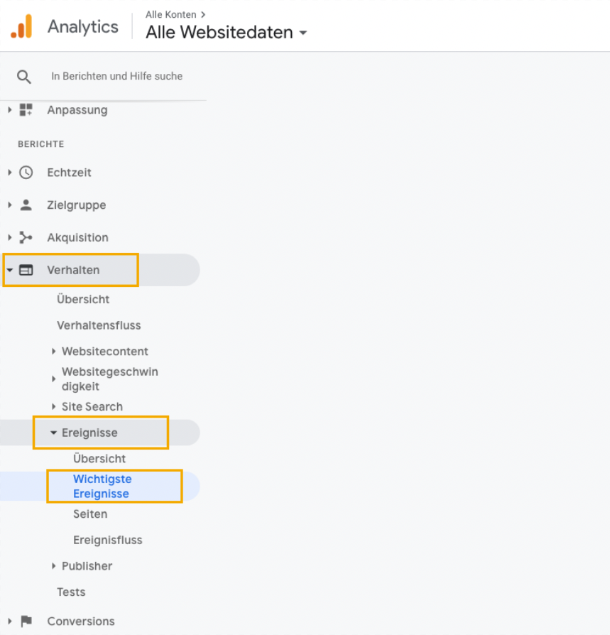 Google Analytics Navigation, leadgenerierung, leadgeneration, funnel, kundengewinnung, software, conversion rate, leads, marketing, fragebogen, kpi