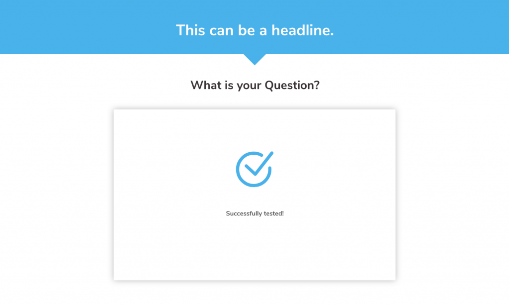 Die Click Funnel Slider Typen, hier Loading Success Message.